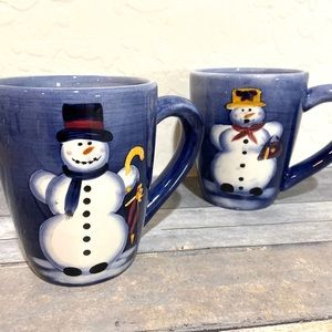 Other - Snowman Mugs Mr and Mrs Hand Painted